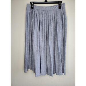Atmosphere Gray Pleated Skirt